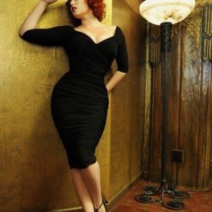 Laura Byrnes Monica wiggle dress Black size small
